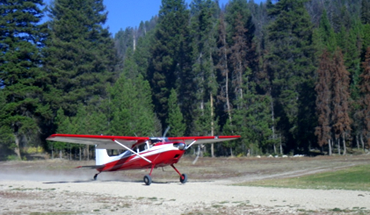 Departing Sulphur Creek Airstrip