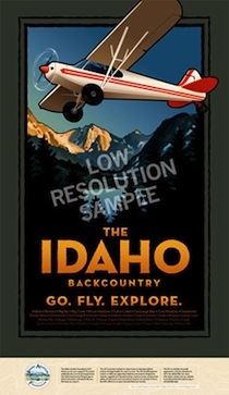 Idaho Backcountry Flying Poster